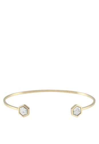 ffe0cbad5aa Shop CLUSE Idylle Marble Hexagons Open Cuff Bracelet Online on ZALORA  Philippines
