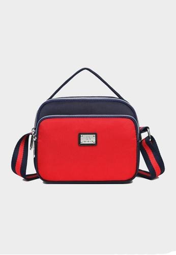 Lara red Women's Nylon Zipper Shoulder Bag Cross-body Bag - Red 1 8E84DACB110DBCGS_1