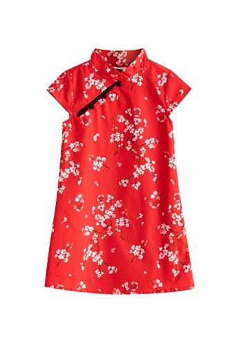 LC Waikiki red Floral Cotton Dress 8B196KA35A76E9GS_1