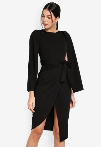 e33241e310632 Shop MISSGUIDED Wrap Skirt Flared Sleeve Dress Online on ZALORA Philippines