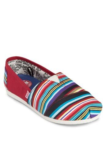 Serapeesprit 眼鏡 彩色條紋懶人鞋, 女鞋, 鞋