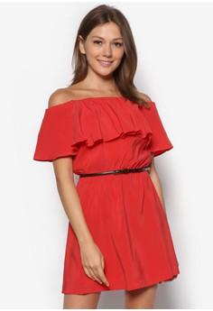 Frilled Belt Dress