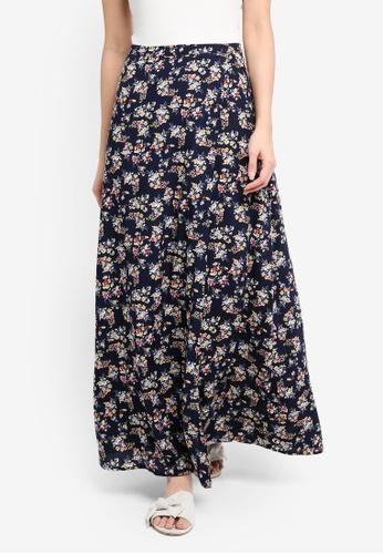 Something Borrowed blue Wrap Maxi Skirt B2F37AA8020015GS_1