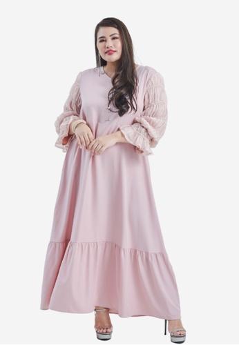 CURVA FABULOUS pink Wiwiana Dress 1DB80AADAE0CE5GS_1