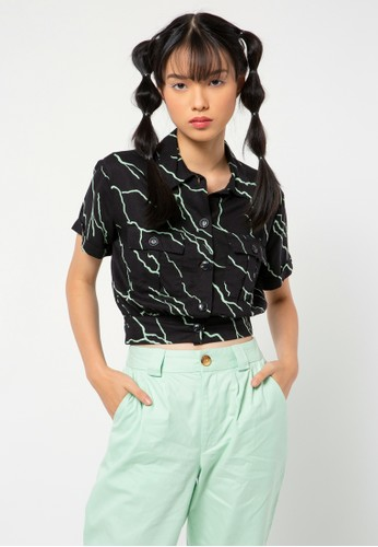 COLORBOX black All Over Print Shirt 22145AA6AF04F8GS_1