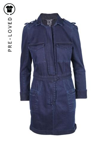 Isabel Marant blue Pre-Loved isabel marant Navy Blue Zipper Shirt Dress 461C4AA540AA15GS_1