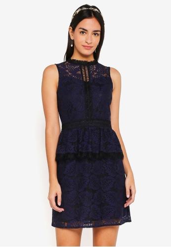 ZALORA navy Bridesmaid Peplum Lace Dress 72C7FAAEA2700DGS_1