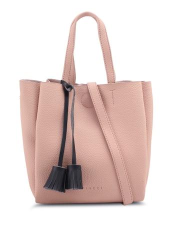 VINCCI pink Tassle Tote Bag 8EB6EAC6A7D844GS_1