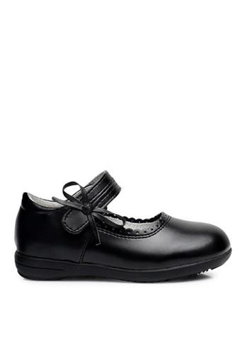 Twenty Eight Shoes 黑色 VANSA 真皮學生鞋   VSK-D8808 67E0EKSE6E2C2AGS_1
