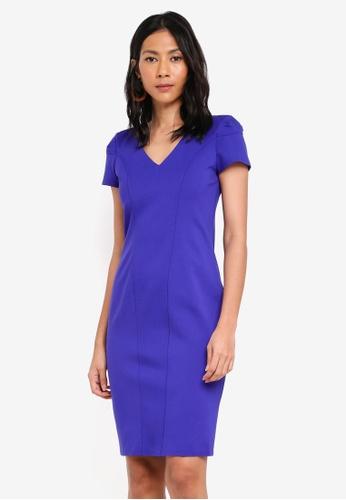 CLOSET purple Bodycon Panel Dress B85A0AAA415C8DGS_1