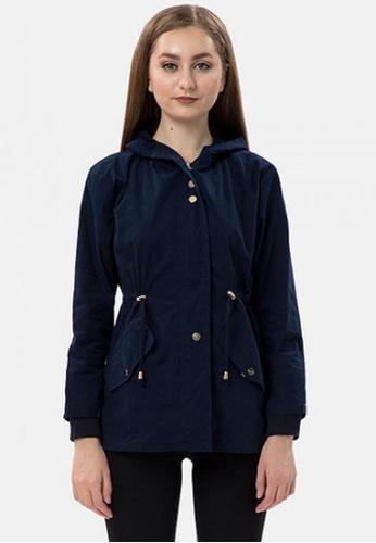 MKY Clothing navy MKY Golden Hoody Parka Jacket in Navy 69E1DAA92BAF4DGS_1
