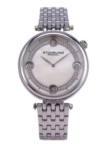 Stuhrling Original white and silver 3999 Quartz Link Bracelet Watch FAA9FACF95A3CFGS_1