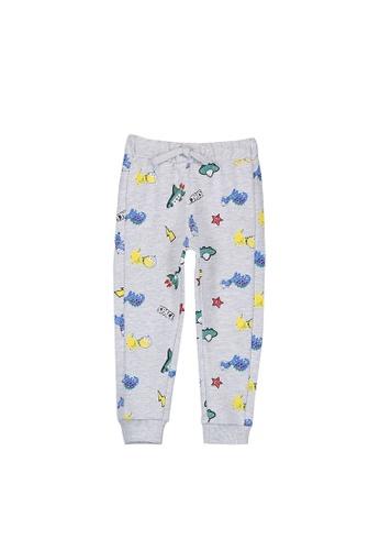 LC Waikiki blue Baby Boy Patterned Cotton Trousers 8666EKADC66AA2GS_1
