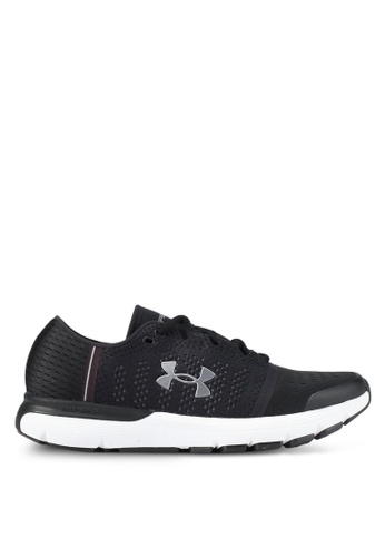 Under Armour black and white UA Speedform Gemini Vent Shoes UN337SH0SUA8MY_1