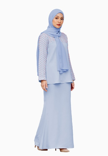 Alana Kurung Moden from LosraVelda in Blue