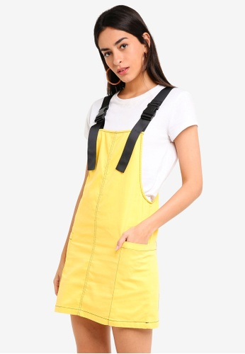Factorie multi Contrast Stitch Overall Dress 823F8AACC7A3E7GS_1