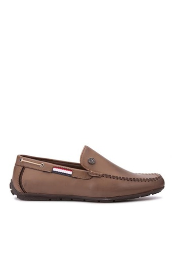 Greatvalueplus brown U.S. Polo Assn. Genuine Leather Slip On Shoes For Men 142DFSHD924D40GS_1