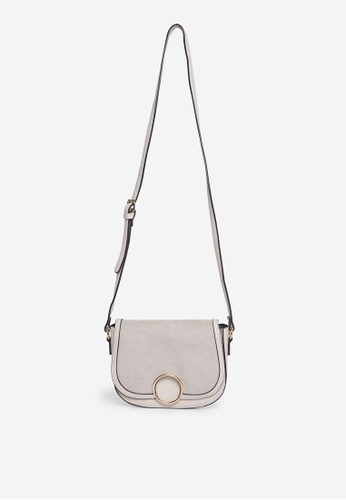 Dorothy Perkins grey Grey Ring Saddle Bag EC664AC62153F0GS_1