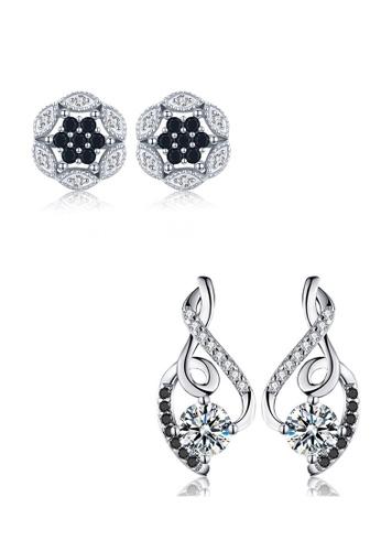 A-Excellence white Premium Elegant White Silver Earring Set 2F7FDACFF31CB7GS_1