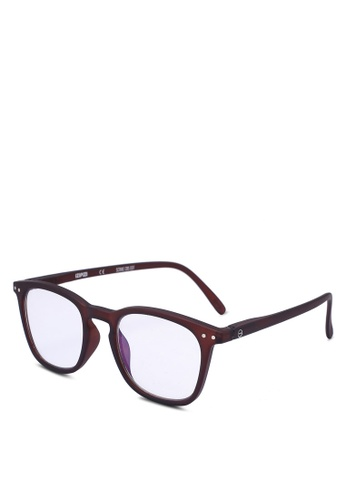 Izipizi 褐色 SCREEN #E Dark Wood +0.00 Screen Glasses CC4ADGL5C06998GS_1