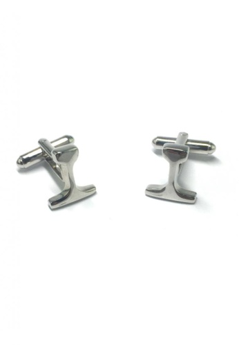 Splice Cufflinks silver Silver Inverted T Cufflinks SP744AC69FUWSG_1