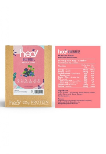 Heal Nutrition Heal Berry Berries Whey Protein Shake Powder 16 Sachets Box HALAL- Suitable: Muscle Gain , Diet , Meal Replacement, Diet E3D5ASEAD50FFEGS_1