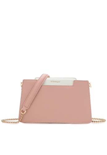 Volkswagen pink Faux Leather Chain Sling Bag 1D422ACB268460GS_1