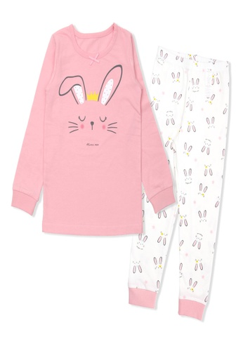 Organic mom pink Organic Cotton Doris Rabbit Lightweight Long Sleeves Pjs 23150KAC7B9F8DGS_1