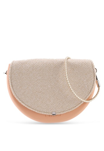 Hoola Hoola orange Chiara Saddle - Nude Coral Woven with Champagne & Ice strap 95397AC1450C03GS_1