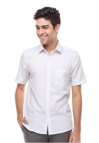 Johnwin white Johnwin - Slim Fit - Kemeja Formal - Lengan Pendek - Polos - Putih 178E3AA8CAF3CAGS_1
