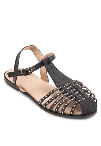Charlotte 鉚釘護趾多帶涼鞋,esprit 高雄 女鞋, 鞋
