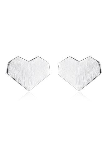 SUNRAIS silver High quality Silver S925 silver heart earrings 36F48ACF76FFA9GS_1