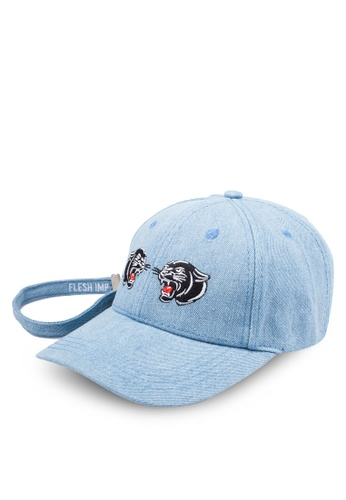 Flesh IMP blue Panther Embroidery Strapback Cap FL064AC0RNASMY_1