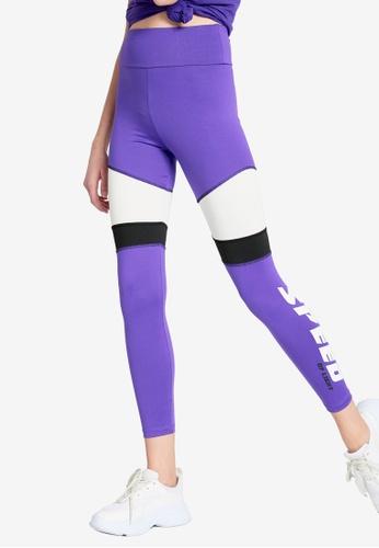 LC Waikiki purple Printed Neon Active Sport Leggings FAEABAA7009421GS_1