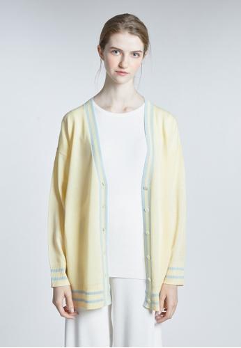 KLAPS yellow Merino Cardigan C1788AAB229C8DGS_1
