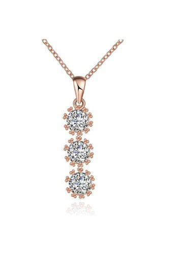 Tiaria pink Tiaria Gold Plated Necklace Fashion Party KZCN119-B--K10 1A415AC39A50BFGS_1