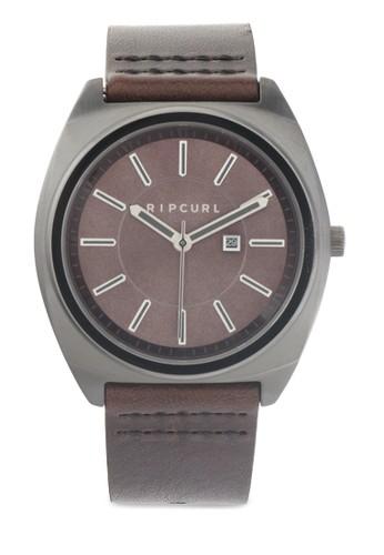 Brinkman Gunmetal Leather Watch
