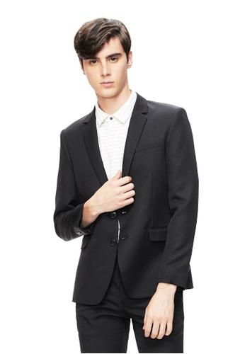 Life8 黑色 Formal Classic Plain Slim Fit Suit Jacket -11166-Black F9ACAAAD1FCD0EGS_1
