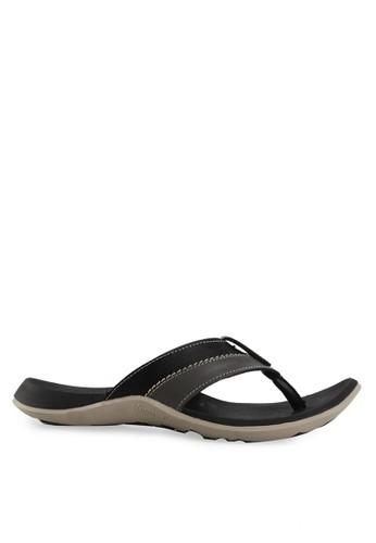 Homyped black Raffi 01 Men Sandals HO842SH06RONID_1