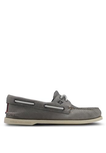 Sperry grey A/O 2-Eye Daytona Boat Shoes A3E99SH128083AGS_1