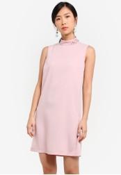 ZALORA pink Embellished Shift Dress 87EE2ZZ078B842GS_1