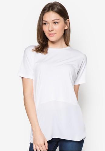 拼zalora taiwan 時尚購物網接短袖上衣, 服飾, T恤