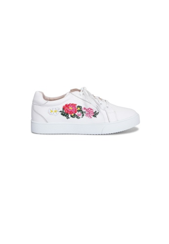 prettyFIT white White Flural Embroidered Sneakers Sp1-011 PR787SH0G6V7SG_1