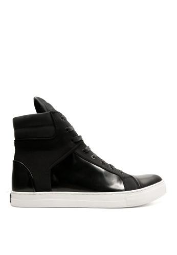 Kenneth Cole New York black DOUBLE HEADER - High Top Sneaker KE615SH0RC6IMY_1