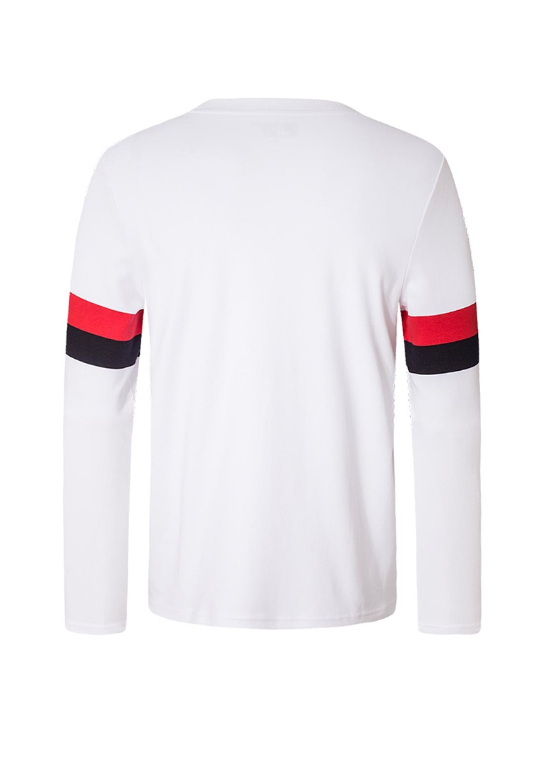 Sleeve White T Long FILA shirt Originale nOC0wHqB4