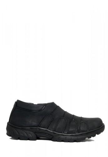 D-Island black D-Island Shoes Slip On Low Fold Office Mens Black BD840SHBC4D889GS_1
