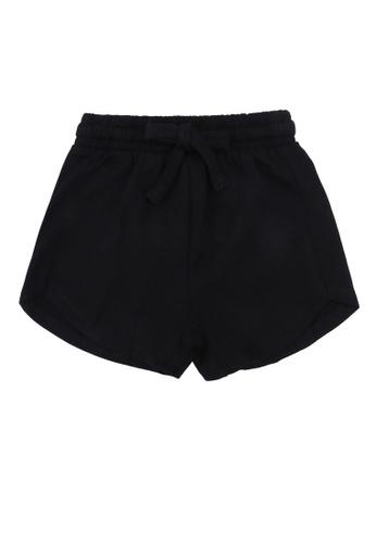 FOX Kids & Baby black Plain Knit Shorts C9EF7KA53B033EGS_1