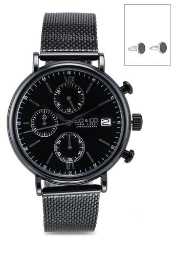 SO&CO black Tribeca 5266 Watch Set 11BECACC90ADA2GS_1