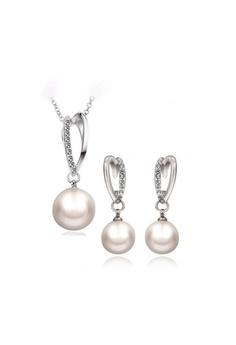 89f01a543 Sopistikada silver Lynette Pearl Necklace & Earrings Set A963BACFE3BC67GS_1