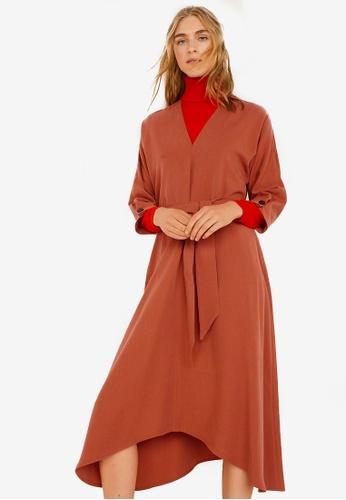 Mango orange Bow Gown 44A03AA89C5572GS_1